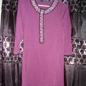 NWOT twelve brand boutique beaded rhinestone tunic